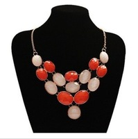 Free shipping Large Rhinestone shiny necklace high quality cheap price gift girls necklace fashion 2013 new designs jewelry
