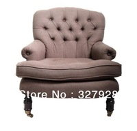 buttons upholstey single sofa