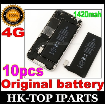 Original Replacement Battery 1420mAh For iphone 4,10pcs/lot YL1025