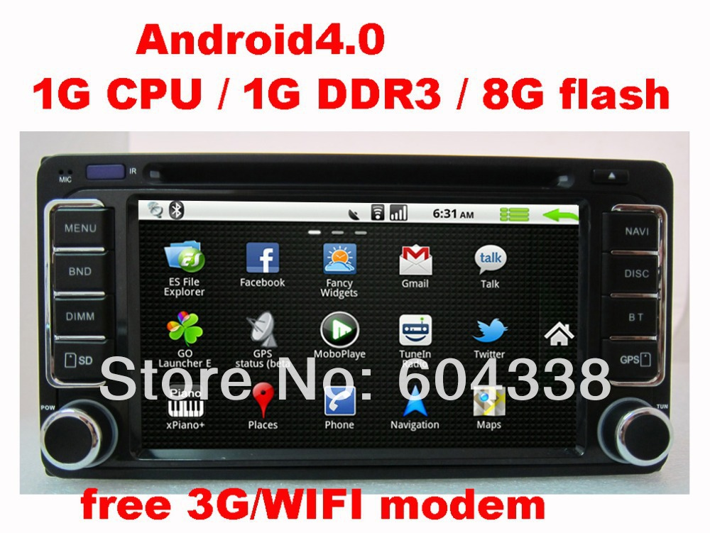 car DVD Android 4.0,3g,WIFI,for Hilux,Corolla E120,Camry(2001-2006),Land Cruiser 4500,Tarago,Prado KJD 120,Terios,Hiace(China (Mainland))