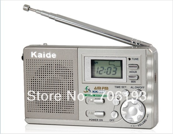 Kaide KK-555 AM FM 2-Band Digital Clock Radio with clock control(China (Mainland))