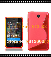 Asha 501 Tpu Cover.  Tpu S line Style Back Gel  Skin case cover For Nokia Asha 501,HIgh quality