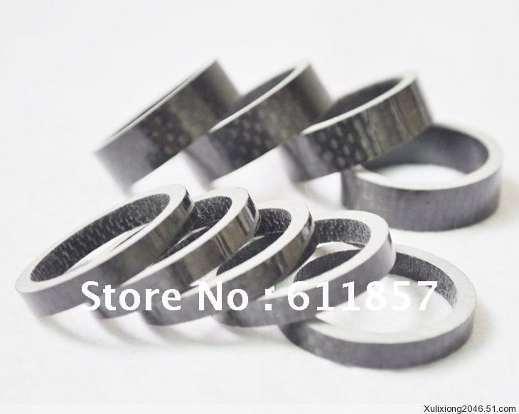 5pcs/lot 20mm height Full Carbon Fiber Bicycle Bike headset washer set,front fork riser pad ring stem gasket(China (Mainland))