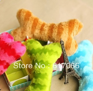 Free shipping! Min 10pcs Mix Color Bone Soft Pet Dog Cat Stuff toys pet sound toys Dog Fun play toys Top Quality 20CM length(China (Mainland))
