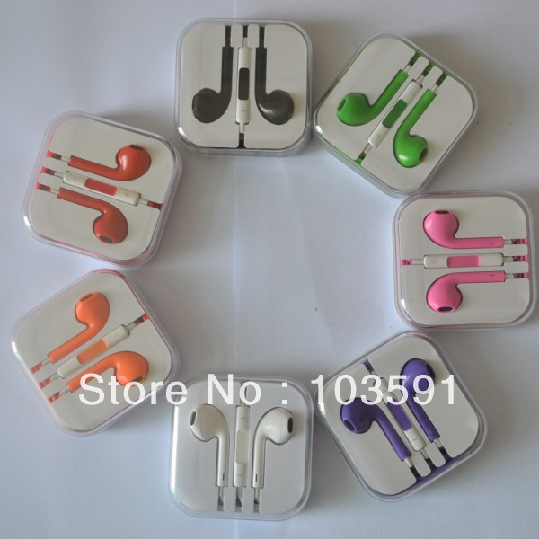 10pcs/lot High Quality Stereo Headphone Earphone with Mic Volume +- control talk for Iphone 5 mp3 etc...(China (Mainland))