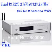 4G RAM 500G HDD  linux mini pc mini itx pc with Intel I3 3220 3.3Ghz/2130 3.4Ghz 22nm