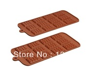 Mini 12 cups square cake Cookie Icecream chocolate silicone mold fondant tools Bakeware 100% food grade