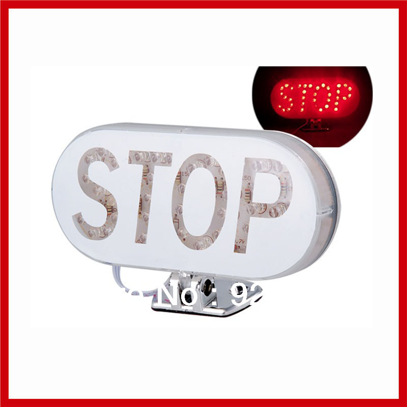 New Universal High Brightness DC 12V Stop Letter Pattern Auto Car Red LED Brake Rear Tail Lamp Bulb Light Flashing Strobe(China (Mainland))