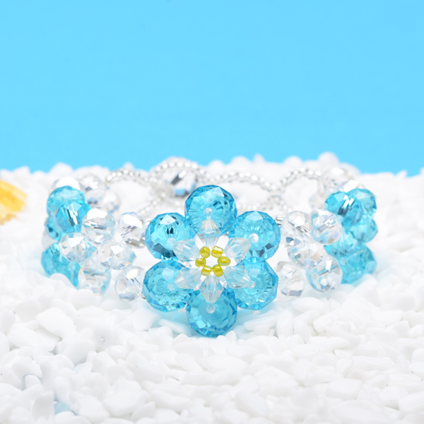 1Lot=10PCS New 2013 Fashion Jewelry Hand-knitted Bracelet Crystal Bracelet The Crystal Flower FREE SHIPPING(China (Mainland))
