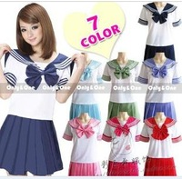 Personalized pink light blue school uniform student uniform school uniform set costume