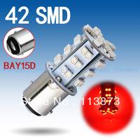 2pcs 1157 BAY15D P21/5W 42 SMD Red Fog Tail Turn Signal 42 LED Car Light Bulb Lamp V2 12V parking car light source