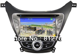 8&quot; Car dvd player for Hyundai Elantra 2012 I35 with GPS,Bluetooth,Ipod,TV,Radio,3G usb host optional,free shipping(China (Mainland))