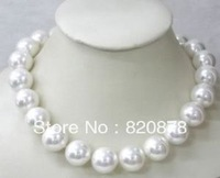 Wonderful!12MM Natural White Shell Pearl Necklace AAA+