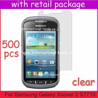 screen protector For Samsung Galaxy Xcover 2 S7710,with retail package,clear film guard,DHL free shipping+500pcs