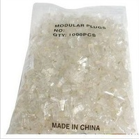 Rj45 crystal head core 8p8c ethernet cable cob crystal head 1000 bag crystal head