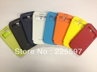 10pcs-Dormancy sleep function battery View housing cover flip leather case for Samsung Galaxy SIV S4 i9500 with retail packig