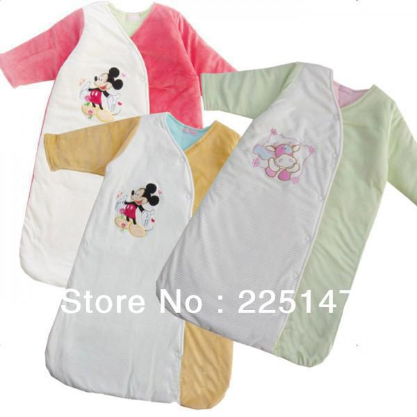 Free Shipping Newborn Baby Sleeping Bag Swaddle baby Cotton Soft Blanket Hood kids baby girl boy Velours Sleeping Bags winter(China (Mainland))