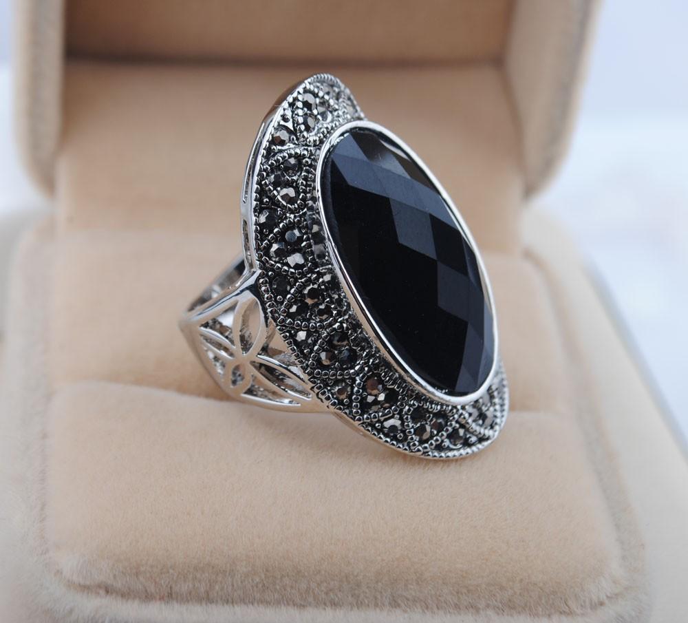 Fashion national fashion trend alloy resin ring agate ring thai silver rhinestone ring(China (Mainland))