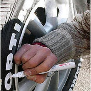 Yi cai tyre pen yi cai pen of metalloscopy tire tyre doodle paint pen refires pen car tyre personalized