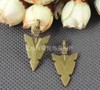 Free shipping New Lucky Carved Imitation bronze Gemstone Arrowhead Pendant Bead Wholesale.16*32MM