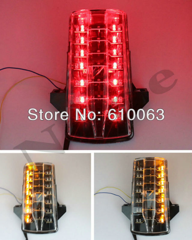 Clear LED Tail Light Brake Turn Signals For Suzuki GSXR 600 2006-2007 For Suzuki GSXR 750 2006-2007 motorcycle parts(China (Mainland))