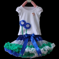 Free shipping Baby clothing,girl&#39;s dress,beautiful dandelion shirt+Pettiskirt set ,5sets/lot