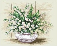 free shipping unfinished DMC  cross stitch kit  flower Series AS-HH-0014 Bottle flower 2