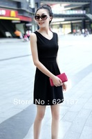 2013 spring one-piece dress women's summer V-neck slim all-match fashion basic skirt