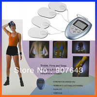 Electric Slimming Massager Pulse Muscle Pain Relief Fat Burn Relaxation Massage 4 Pads pain fitness Free Shipping