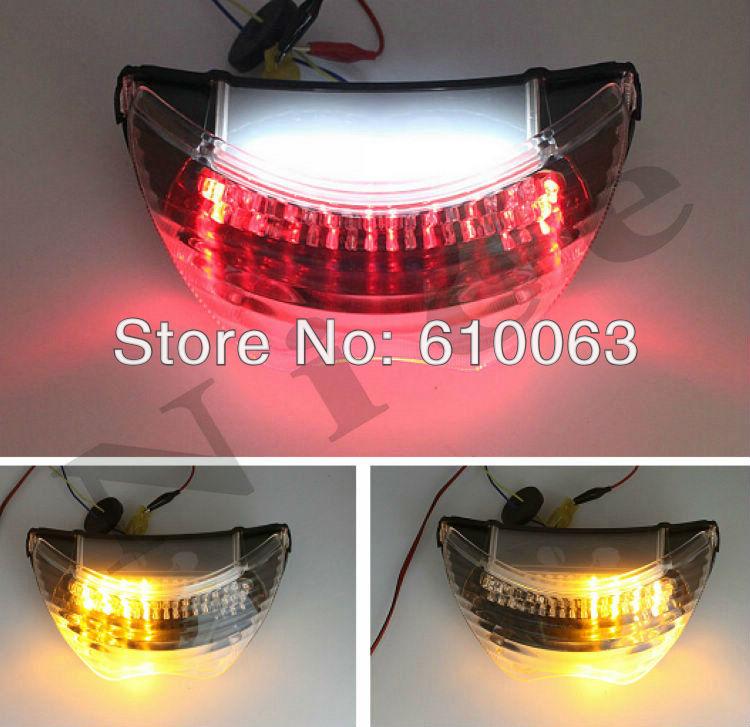 Clear LED Motorcycle flashers Tail Light Brake Turn Signals For Honda CBR 600 F4 1999 2000 For Honda CBR 600 F4i 2004-2006(China (Mainland))
