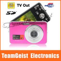 2.7 TFT LCD Screen Digital Camera 5.0 Mega Pixels COMS sensor 8X digital zoom Camera Support Anti-Shake TV out Free Shipping