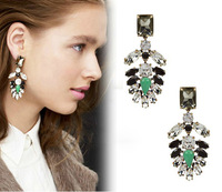 Statement earring 2013 vintage gem banquet women's earrings stud earring E288