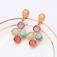 Statement earring 2013 candy color sweet women's stud earring