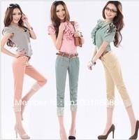 Free shipping2013 capris skinny casual pants Stretch legging elastic capris pencil pants female plus size trousers dropshipping