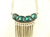 Free Shipping The New Popular Artificial Gem Fringe Short Necklace