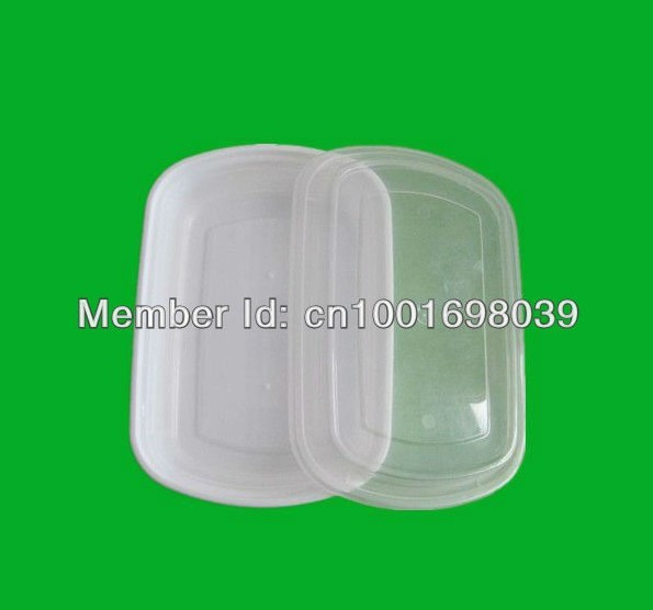 Free shipping 5sets retail useful PP box Best lunch ,clear plastic box case,large food container,kitchen storage box with lids(China (Mainland))