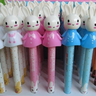Min.order $20 E5004 promotion 16CM cartoon rabbit ballpoint pen 10g automatic ballpoint pen(China (Mainland))