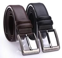 Free shipping Men's fashion cowhide genuine leather brief belt male strap Fashion  Shape Metal mens beltCeinture Buckle MD1