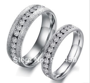 USA ePacket Free Shipping Brand New Fashion Jewelry Rings Crystal Rhinestone Steel Rings Women/Men Whole Sale RS167(China (Mainland))