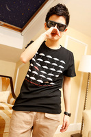 2013 men's spring clothing short-sleeve T-shirt male trend of the new arrival fashion personality cotton short-sleeve 100%