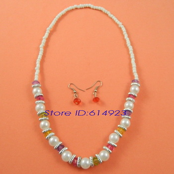 Fashion Colorful Plastic Rice Beads Children Jewelry Sets Kids/Baby/Girls Free Shipping 51009