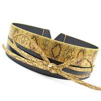 Free shipping!!! 2013 newest gold snakeskin patchwork faux leather waistband dress belt wide high waist belt for women