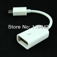 Free shipping OTG Micro USB Cable for Samsung Galaxy S2 S3 i9300 i9100 Note N7000 i9220 E2018 white color hot sale