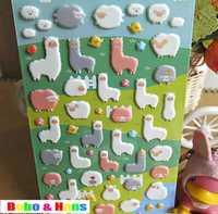 New 3D cute sheep designs deco PVC sticker / mobile sticker / Decoration label / Wholesale