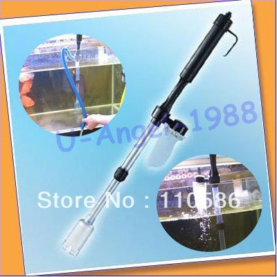 FREE FEDEX.Free shipping+Aquarium Battery Syphon Auto Fish Tank Vacuum Gravel Water Filter Cleaner Washer(China (Mainland))