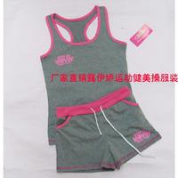 Sportswear fitness clothing aerobics clothing young girl callisthenics vest shorts set