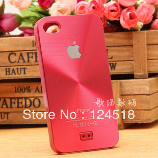 1pcs Ultrathin Aluminum case CD profiling brushed metal cases titanium alloy back cover for iphone4 4s ,free shipping(China (Mainland))