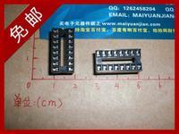 Find Home Ic socket black 16pin ic adapter chip mcu base 10 1
