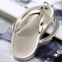 Birthday gift Fashion alloy metal flip-flops Key holder Free shipping KL42