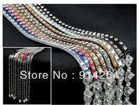 10pcs Soft Genuine Leather Dress Belt Women Ladies Crystal Thin Skinny Chain Waistband    free shipping